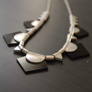 Jewelry - Black and Silver Geometric Statement Necklace